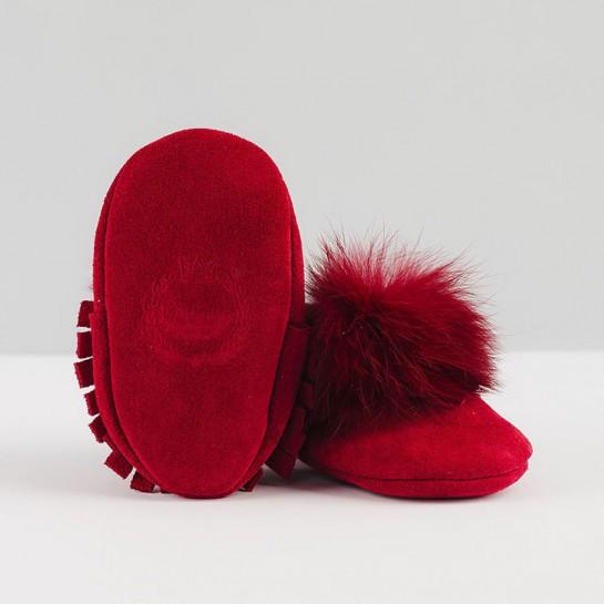 """Mokasynki """"made with love"""" czerwone"""