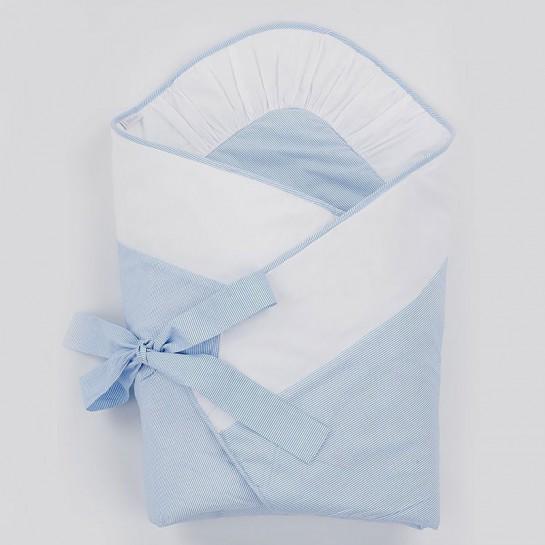 Becik biało-błękitny