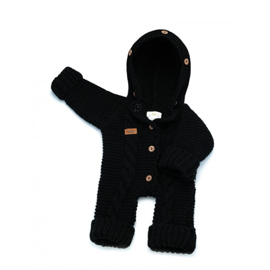 Kombinezon handmade czarne - bez futerka