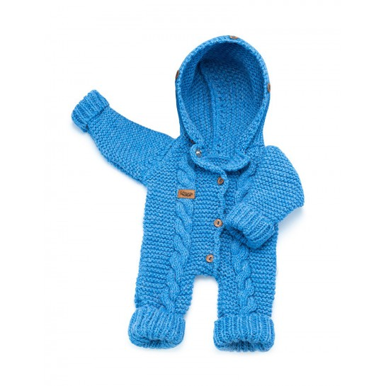 Kombinezon handmade niebieski - bez futerka