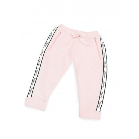 """Spodnie dresowe """"Monaco"""" pudrowy róż damskie"""