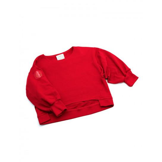 "Bluza dresowa ""California"" czerwona damska"