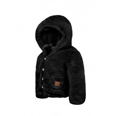 kurtka futrzana czarna