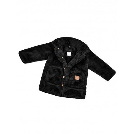 Płaszczyk - futrzany czarny