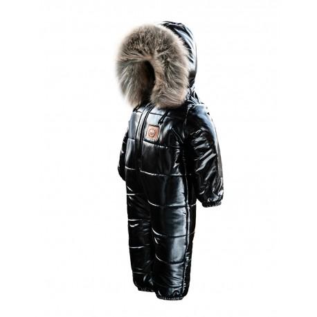 Kombinezon  zimowy LAttante  z sztucznym futrem - czarny