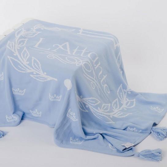 Kocyk tkany błękitny (narzuta)